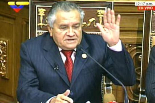 Der neue Parlamentspräsident Fernando Soto Rojas