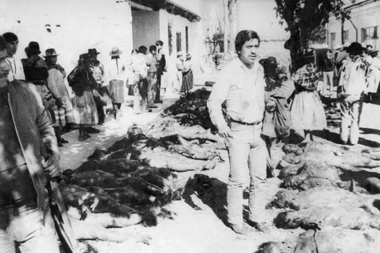 Opfer des Massakers in Accomarca