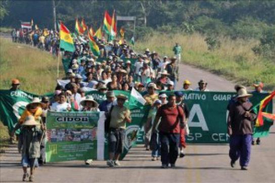 Marsch der Demonstranten