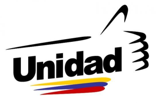 Einheit im Vordergrund: Logo des Oppositionsbündnisses MUD