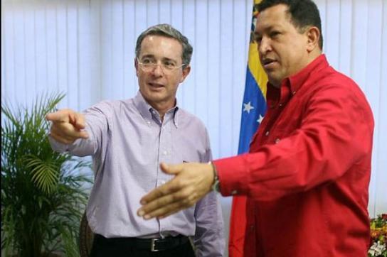 Álvaro Uribe und Hugo Chávez