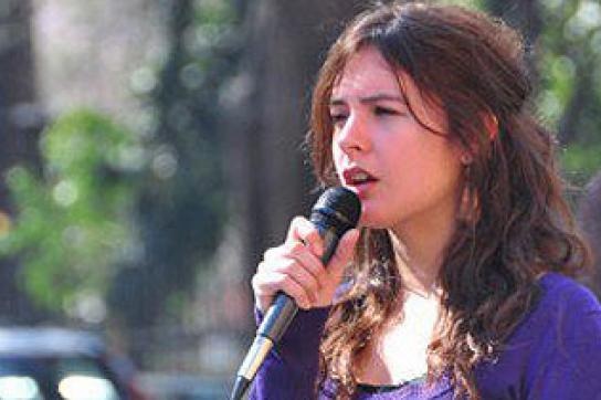 Präsidentin des Studierendenverbandes, Camila Vallejo