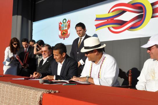 Ollanta Humala und Rafael Correa