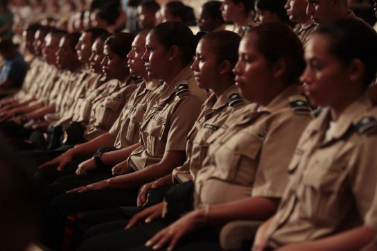 Polizistinnen und Polizisten der Bolivarischen Nationalpolizei