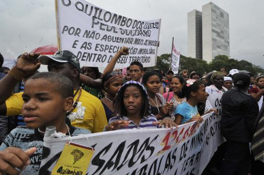 Quilombola-Protest Brasília