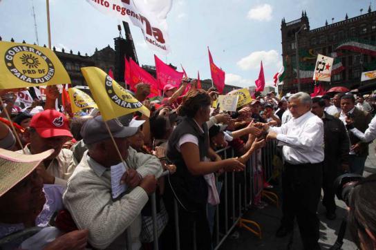 Andres Manuel López Obrador am Sonntag