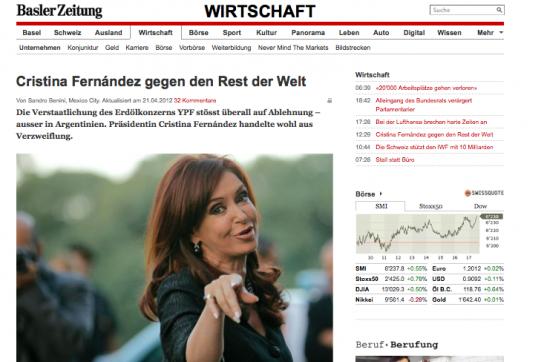 Artikel in der Basler Zeitung