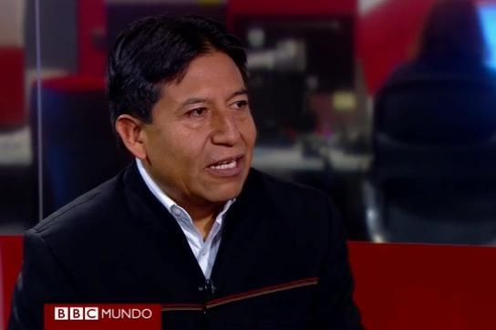 Choquehuanca im BBC-Gespräch