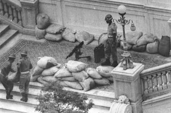 Szene während des Staatsstreichs in Brasilien 1964