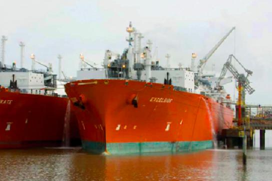 Gastankschiffe vor Argentinien