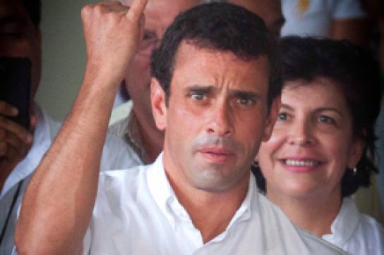 Capriles nach der Stimmabgabe