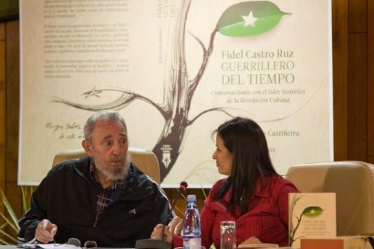 Fidel Castro und Katiuska Blanco