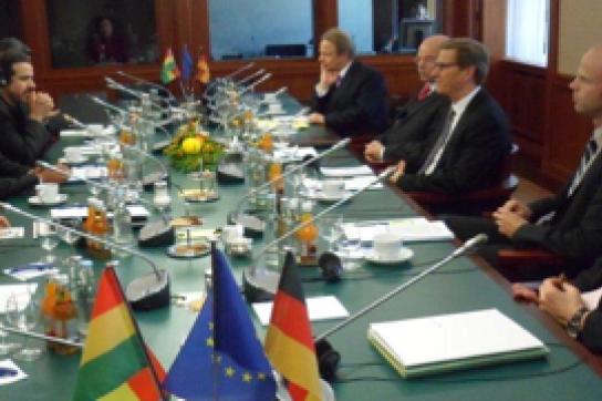 Boliviens Außenminister im AA