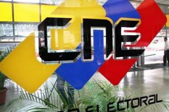 Im Sitz des CNE in Caracas