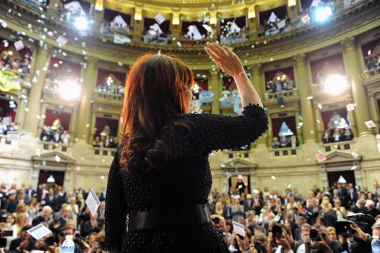 Cristina Fernández bei der feierlichen Eröffnung der Sitzungsperiode im argentin