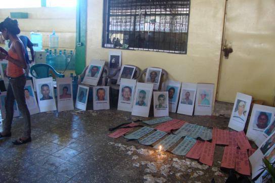 Gedenken an die ermordeten Kleinbauern in Bajo Aguán