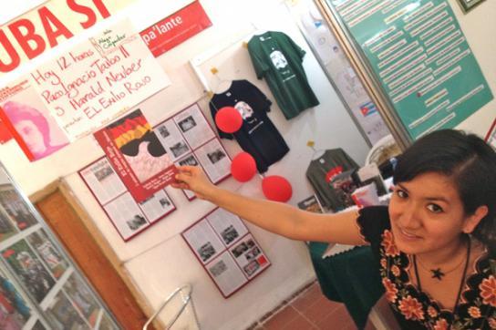 Anzeige der Veranstaltung auf der Buchmesse in Havanna