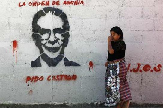 Grafitto gegen Rios Montt in Guatemala