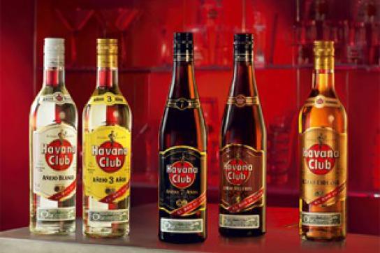 Rumsorten der Marke Havana Club