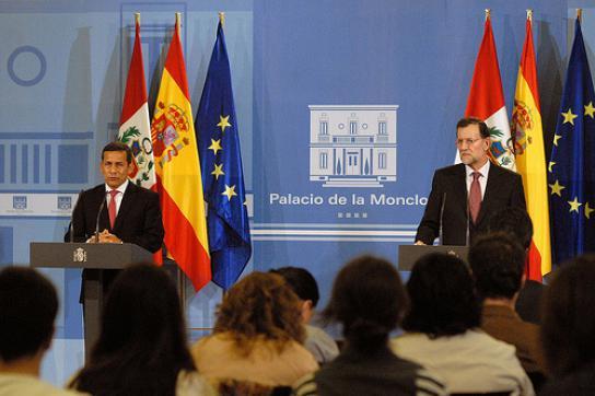 Humala im Februar bei Spaniens Ministerpräsidenten Rajoy