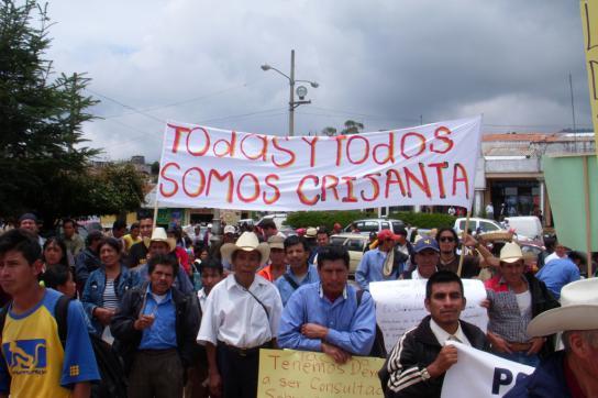 Solidaritätsdemonstration mit den Aktivistinnen in Guatemala