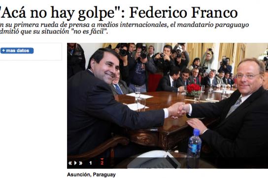 """""""Es gab keinen Putsch"""" - Artikel in der Zeitung """"La Prensa"""" in Honduras"""