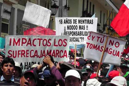 Massive Proteste der Bevölkerung konnten das Minenprojekt Conga vorerst stoppen