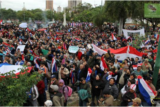 Protest gegen die Putschisten in Asunción