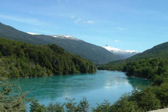 Am Río Baker entstehen im Rahmen von HidroAysén zwei Wasserkraftwerke
