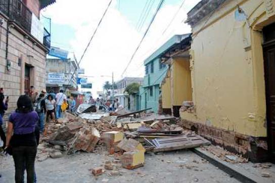 Das Erdbeben hat in San Marcos große Schäden verursacht