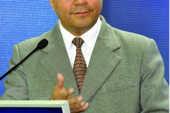 Boliviens Wirtschaftsminister Luis Arce