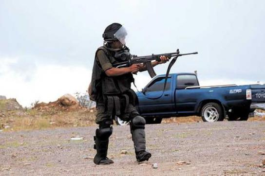 Das Militär ging mit Waffengewalt gegen die Demonstration vor