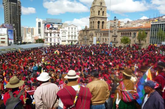 MAS-Demo in Bolivien La Paz