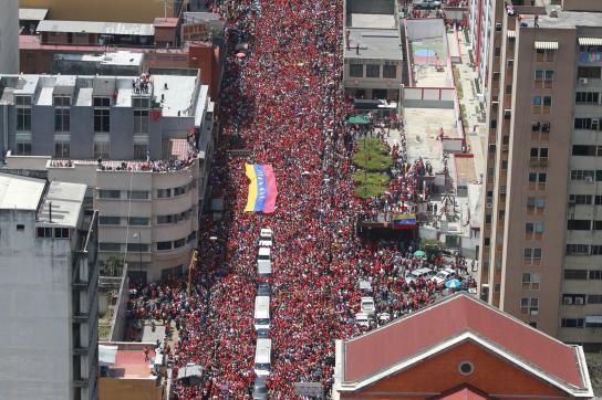 Anhänger von Chávez in den Straßen von Caracas