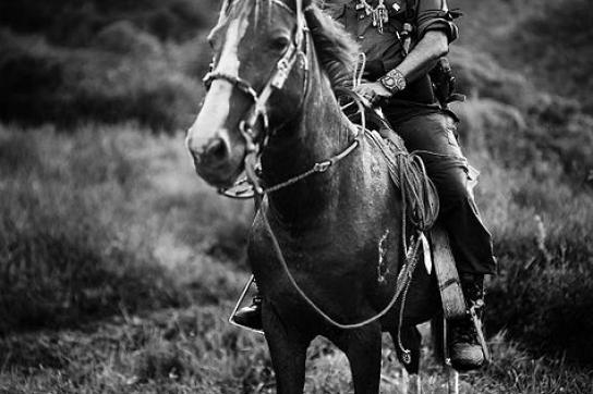 Subcomandante Marcos auf einem Pferd