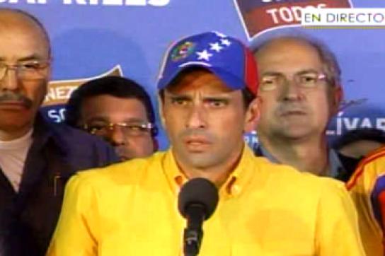 Der Wahlverlierer Henrique Capriles Radonski