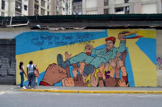 Wandbild mit Chávez