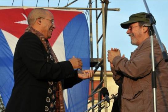 Issac Delgado und Silvio Rodríguez