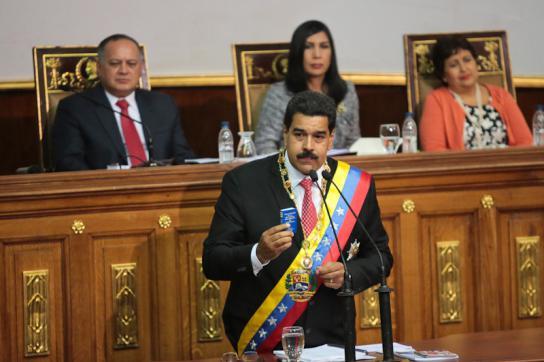 Maduro vor der Nationalversammlung