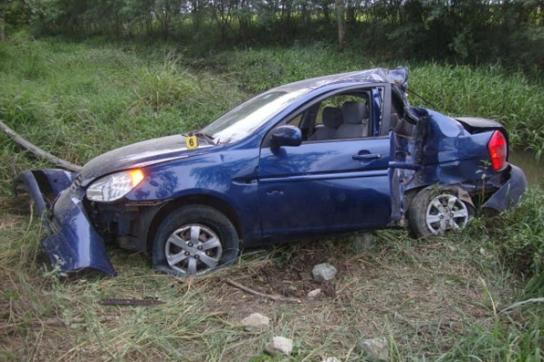 Aufnahme des Unfallautos