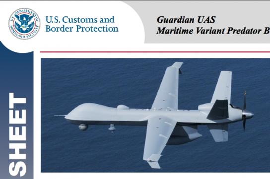 Predator-Drohne der Grenzschutzbehörde der USA