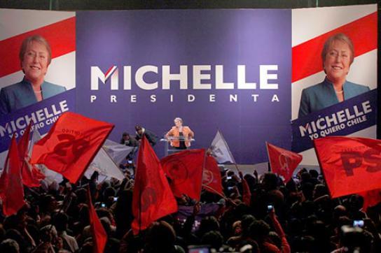 Die Siegerin der Präsidentschaftswahlen in Chile: Michelle Bachelet