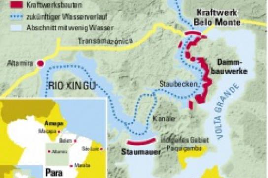 """El Dorado für Goldkonzern: Die """"Große Schleife"""" (""""Volta Grande"""") am Xingu-Fluss"""