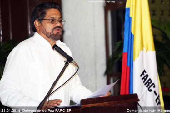 Der Sprecher der FARC-Delegation, Iván Márquez, am Donnerstag in Havanna