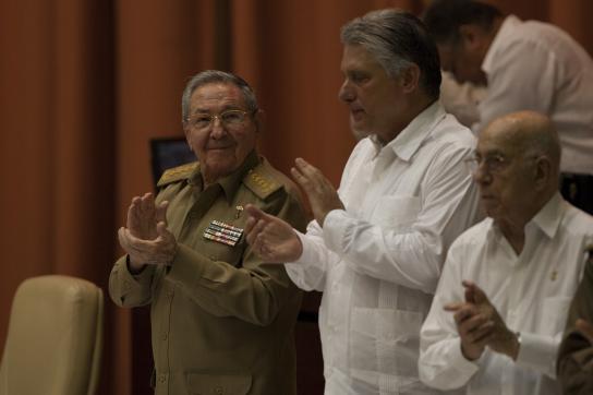 Raúl Castro, Díaz-Canel, Machado Ventura