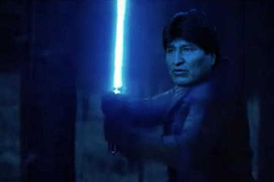 Evo Morales als Jedi-Ritter