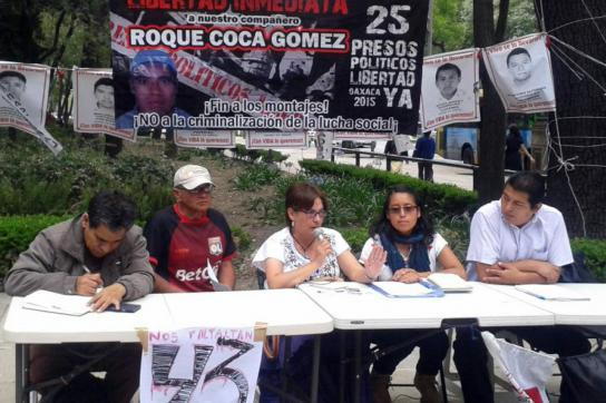 Pressekonferenz der Angehörigen der 25 verhafteten Aktivisten