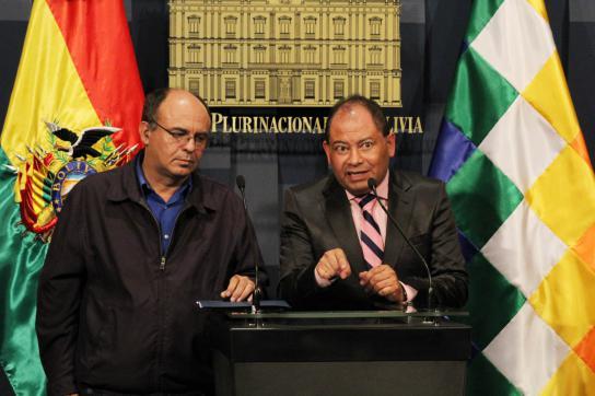 Verteidigungsminister Reymi Ferreira (links) und Staatsminister Carlos Romero, 0
