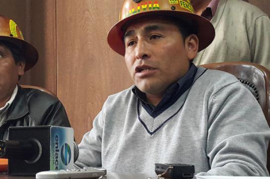 Carlos Mamani, Vorsitzenden der Vereinigung der Bergbaukooperativen (Fencomin)