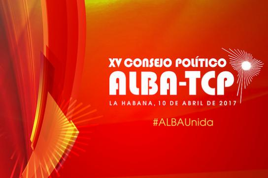 Logo von der Seite des kubanischen Außenministeriums über das Alba-Treffen